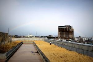 塩尻市に架かった虹