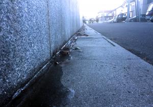 塩尻市街地も凍り出しました!