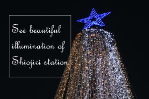 塩尻駅前の綺麗なイルミネーションを楽しみましょう!