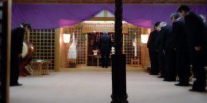 新年はどこで迎えましたか?私は伊夜彦神社で迎えました。