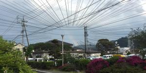 塩尻に虹!キレイです